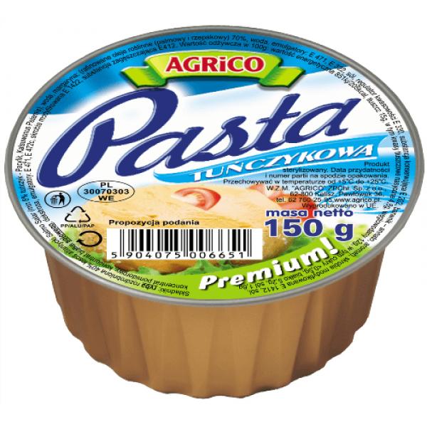 Agrico PASTA TUŃCZYKOWA 150g 36 sztuk