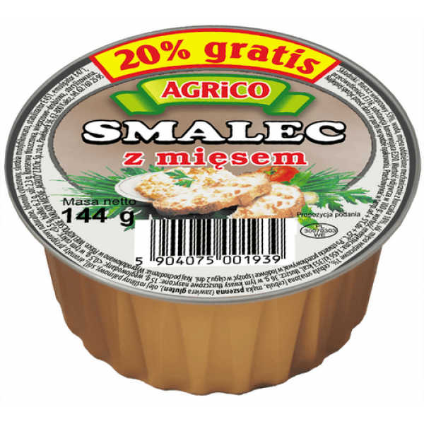 Agrico SMALEC Z MIĘSEM 144g 36 sztuk