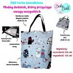 Baby Ball Torba na zakupy bawełniana eko shopperka –wesołe koty