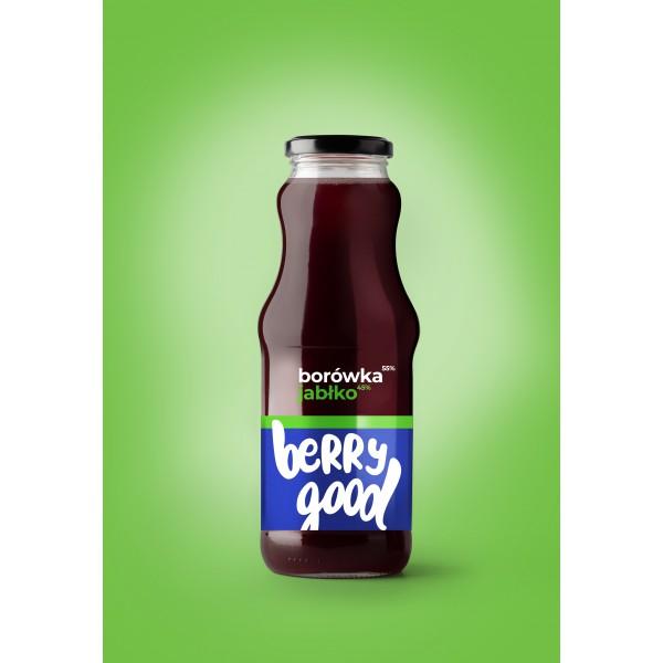 Berry Good Blueberry-Apple juice 8x250ml