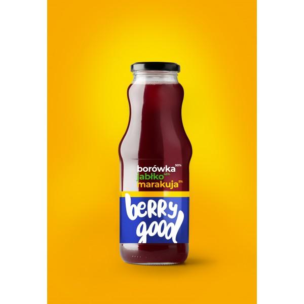 Berry Good Blueberry-Apple-Passion fruit 100% 8x250ml