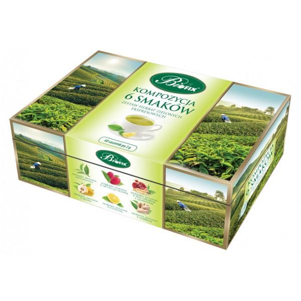 Bi FIX KOMPOZYCJA 6 SMAKÓW ZIELONA Herbata zielona ekspresowa