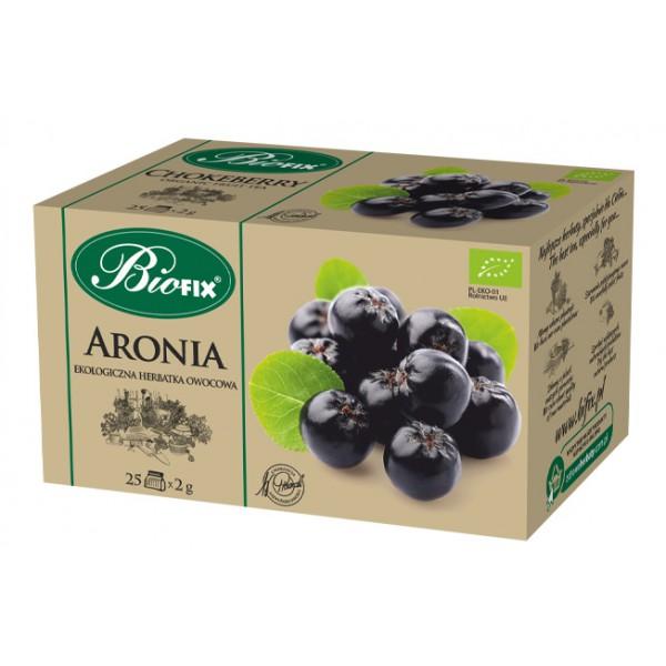 Bi FIX ARONIA Herbatka owocowa ekologiczna ekspresowa BIOFIX 25 x 2 g
