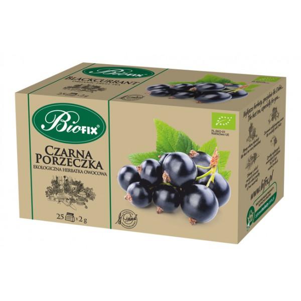 Bi FIX CZARNA PORZECZKA Herbatka owocowa ekologiczna ekspresowa BIOFIX 25 x 2 g