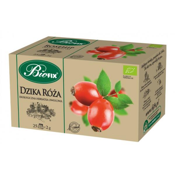 Bi FIX DZIKA RÓŻA Herbatka owocowa ekologiczna ekspresowa BIOFIX 25 x 2 g
