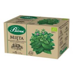 Bi FIX MIĘTA Herbatka ziołowa ekologiczna ekspresowa BIOFIX 20 x 1,75 g