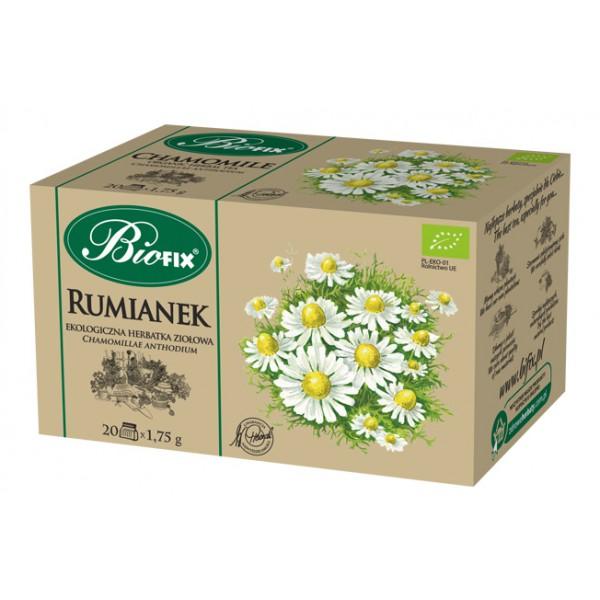 Bi FIX RUMIANEK Herbatka ziołowa ekologiczna ekspresowa BIOFIX 20 x 1,75 g
