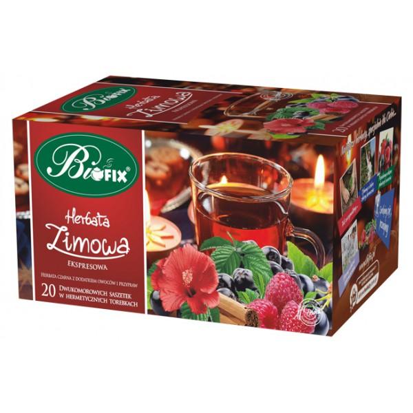 Bi FIX ZIMOWA Herbata czarna z przyprawami i kawałkami owoców 20 x 2 g