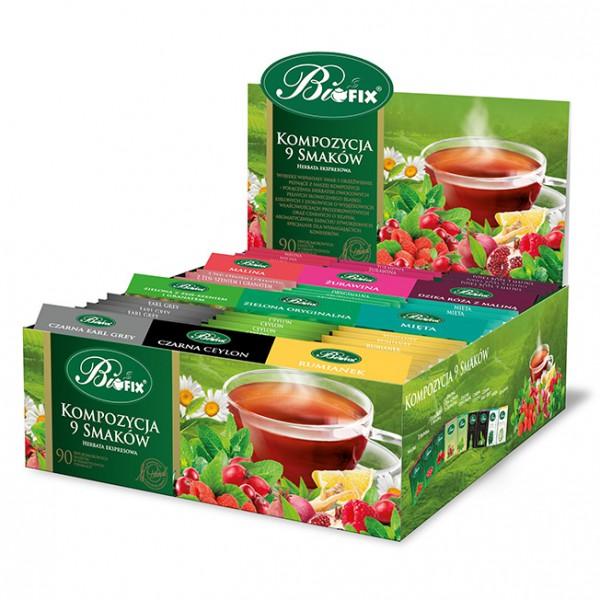 Bi FIX KOMPOZYCJA 9 SMAKÓW Herbatka owocowa ekspresowa