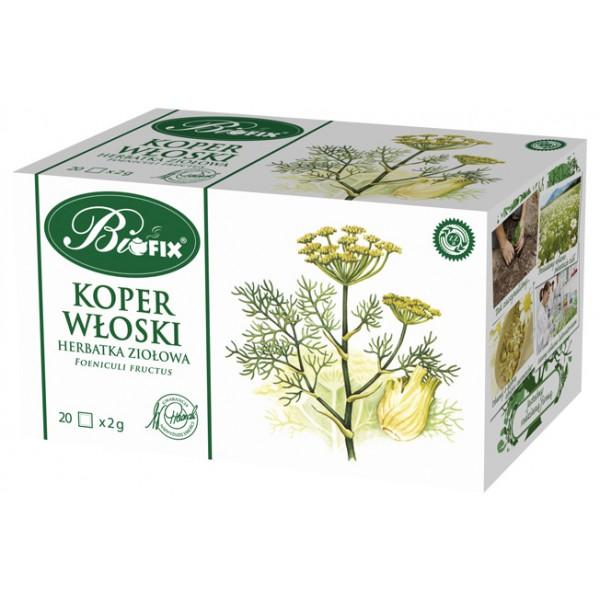 Bi FIX KOPER WŁOSKI Herbatka ziołowa ekspresowa 20 x 2 g