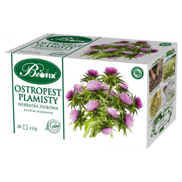 Bi FIX OSTROPEST PLAMISTY Suplement Diety Herbatka ziołowa ekspresowa 20 x 2 g