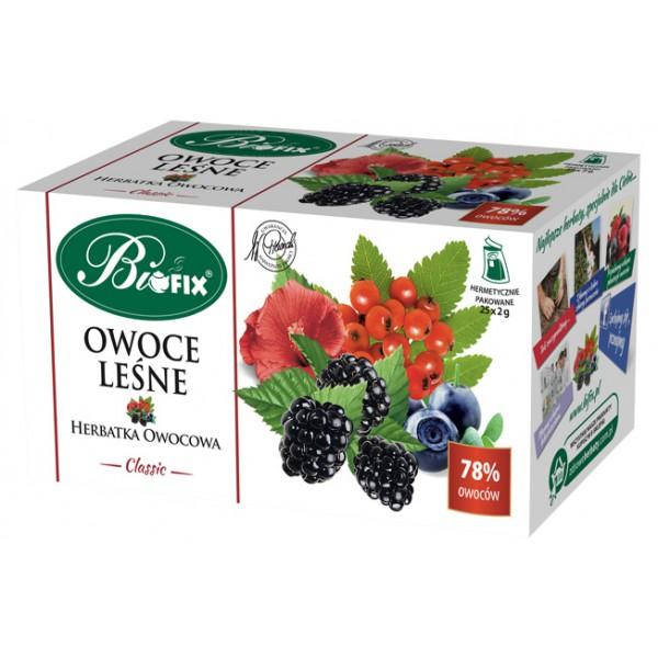 Bi FIX Classic OWOCE LEŚNE Herbatka owocowa ekspresowa 25 x 2 g