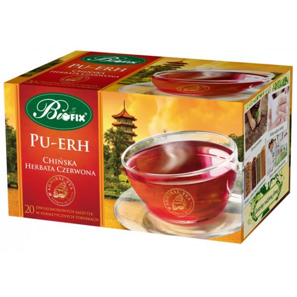 Bi FIX Admiral tea PU–ERH Chińska herbata czerwona ekspresowa 20 x 2 g