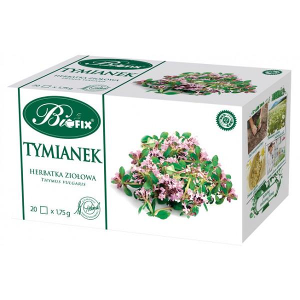 Bi FIX TYMIANEK Suplement Diety Herbatka ziołowa ekspresowa 20 x 1,75 g