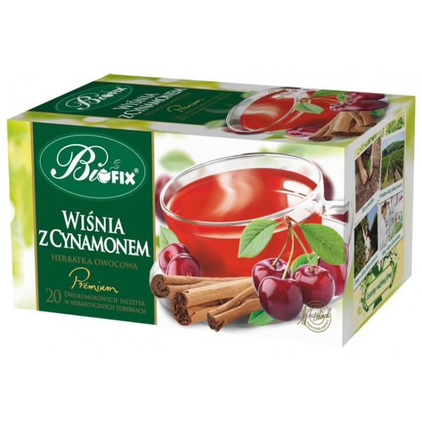 Bi FIX Premium WIŚNIA Z CYNAMONEM Herbatka owocowa ekspresowa 20 x 2 g