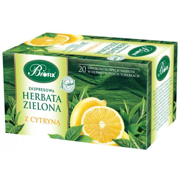 Bi FIX Premium ZIELONA Z CYTRYNĄ Herbata ekspresowa 20 x 2 g