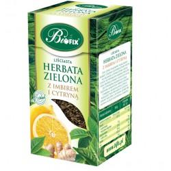 Bi FIX ZIELONA Z IMBIREM I CYTRYNĄ Herbata liściasta 100 g