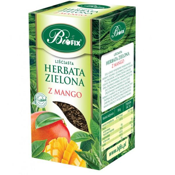 Bi FIX ZIELONA Z MANGO Herbata liściasta 100 g