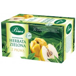 Bi FIX Premium ZIELONA Z PIGWĄ Herbata ekspresowa 20 x 2 g