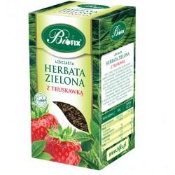 Bi FIX ZIELONA Z TRUSKAWKĄ Herbata liściasta 100 g