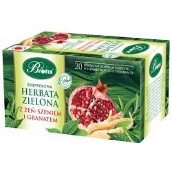 Bi FIX Premium ZIELONA Z ŻEŃ-SZENIEM I GRANATEM Herbata ekspresowa 20 x 2 g