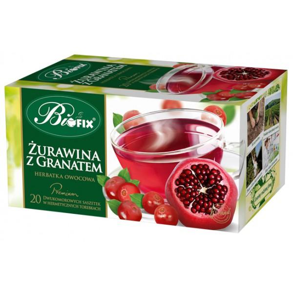 Bi FIX Premium ŻURAWINA Z GRANATEM Herbatka owocowa ekspresowa 20 x 2 g