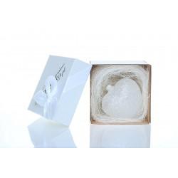 Bombeczka.pl White glitter ball for a gift 10 cm - HEART
