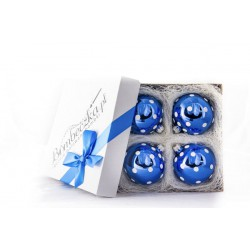 Bombeczka.pl Four blue 8 cm / 10 cm Christmas balls