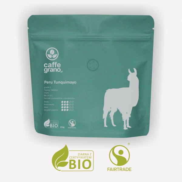 Caffe Grano Kawa Peru Tunquimayo grade 1 – organiczna kawa specialty 250g