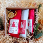 Caffe Grano A Christmas set of coffees, wrapped as a gift, 3x 100g