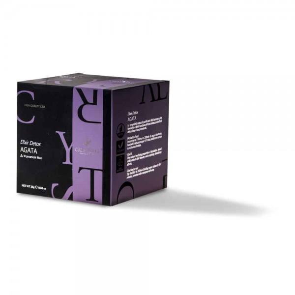 Crystalweed  Herbata ziołowa CBD Detox - Agat