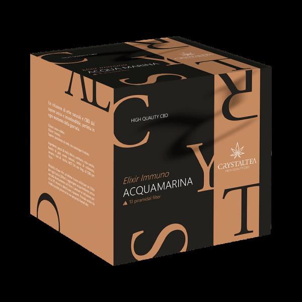 Crystalweed Herbata CBD Immuno Herbal Tea - Aquamarine