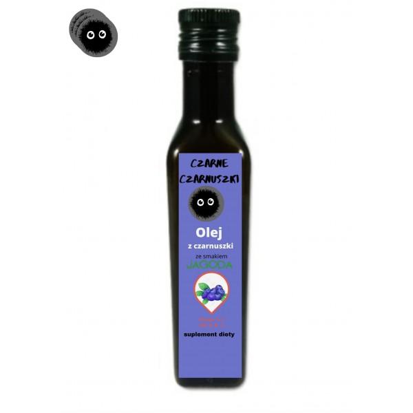 Czarne Czarnuszki Olej z Czarnuszki o smaku jagodowym 250ml