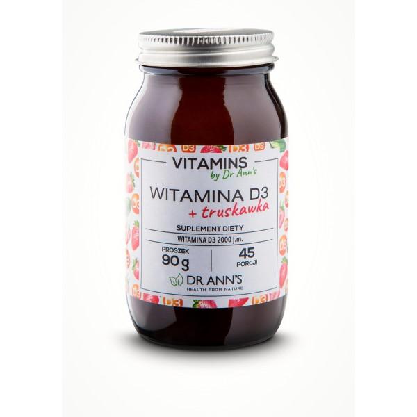 DR Anns WITAMINA D3 + truskawka - Suplement diety w proszku