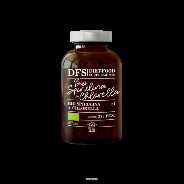 Diet-Food Bio chlorella + spirulina - tabletki 375 szt.