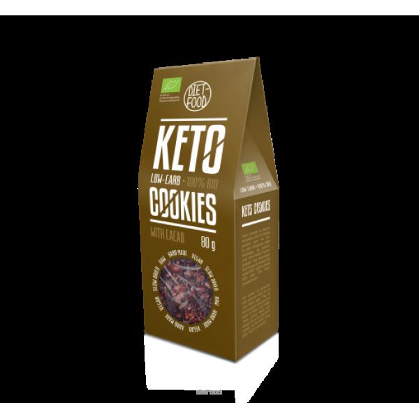 Diet-Food Bio ciasteczka keto z kakao