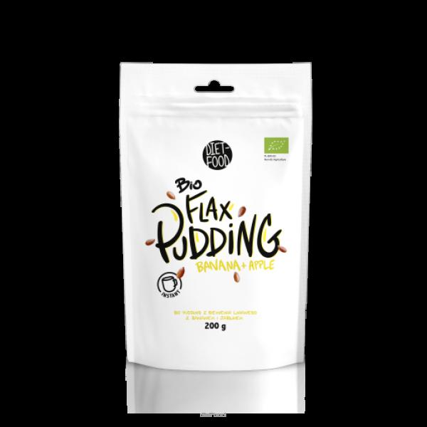 Diet-Food Bio flax pudding z siemienia z jabłkiem i bananem 200g