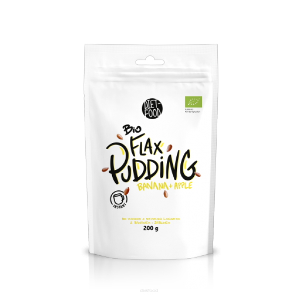 Diet-Food Bio flax pudding apple/banana 200g