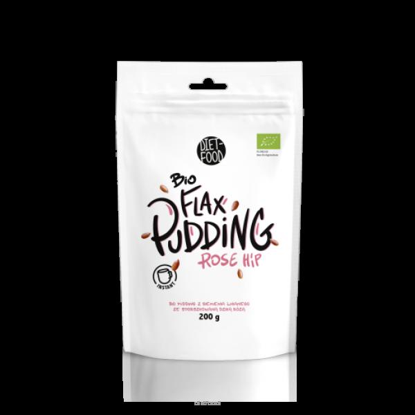 Diet-Food Bio Flax pudding z siemienia z dziką różą