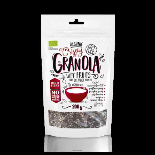 Diet-Food Bio granola z burakiem i jabłkiem 200g