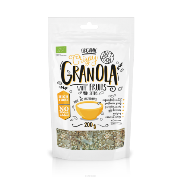 Diet-Food Bio Granola z owocami 200g