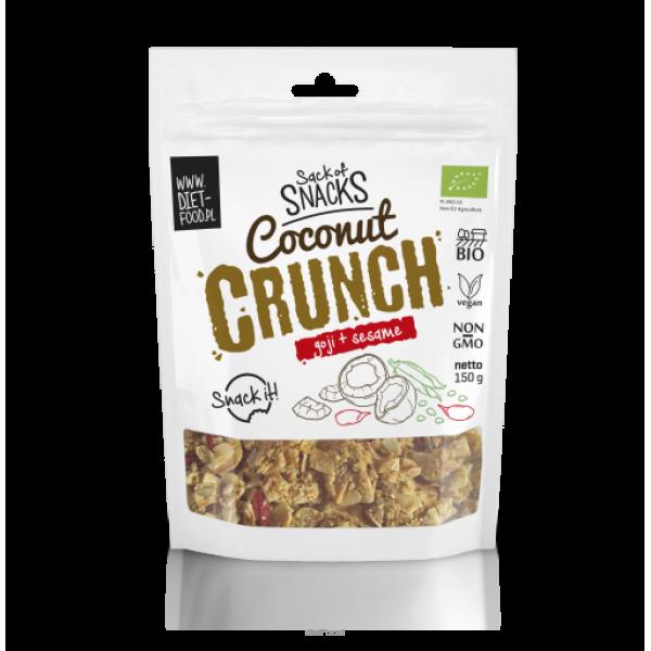 Diet-Food Bio kokosowy crunch - goji + sezam 150 g