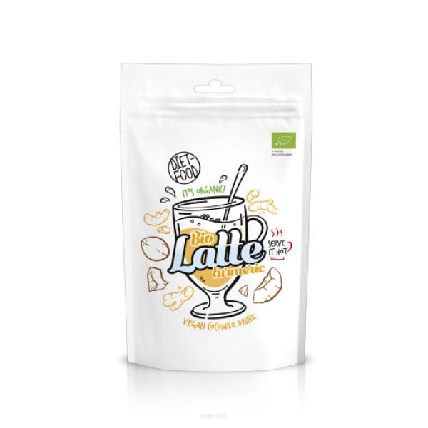 Diet-Food Bio latte z kurkumą 200g