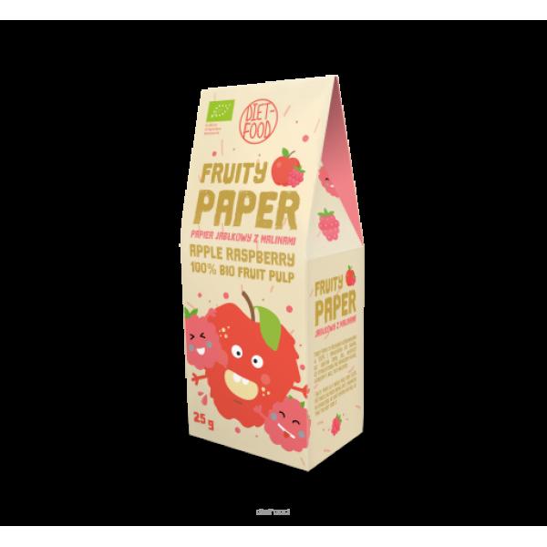 Diet-Food Bio papier owocowy - jabłko + malina 25g