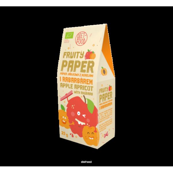 Diet-Food Bio papier owocowy - jabłko + morela + rabarbar 25g