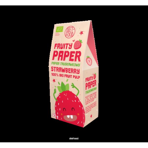 Diet-Food Bio Papier owocowy - 100% bio truskawka 25g
