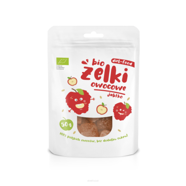 Diet-Food Bio żelki owocowe jabłko 50g