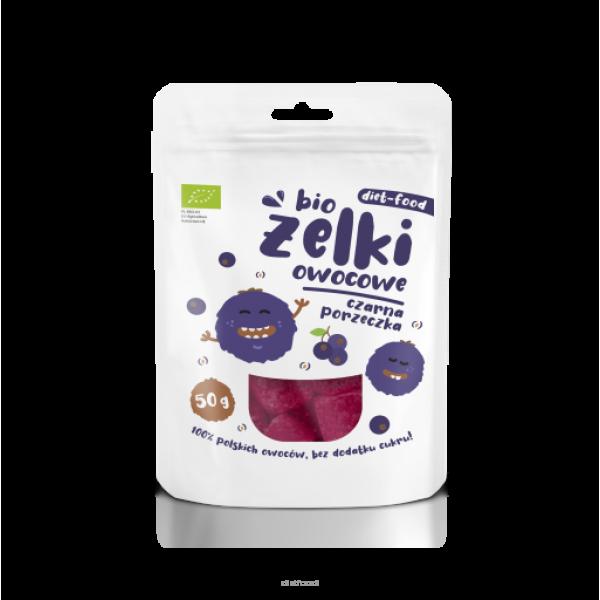Diet-Food Bio żelki owocowe czarna porzeczka 50g