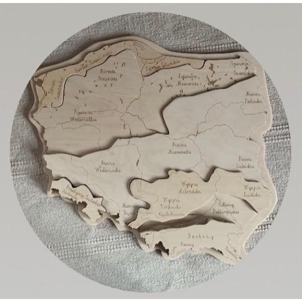 EduDoMo Krainy geograficzne w Polsce PUZZLE WARSTWOWE