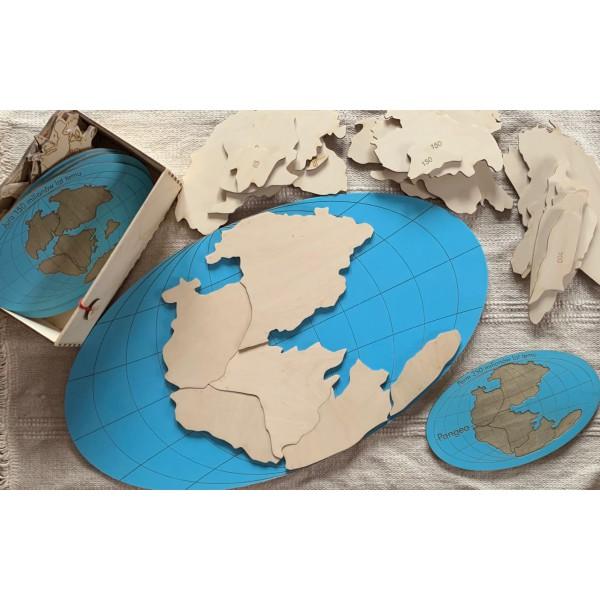 EduDoMo Dryfujące kontynenty - Puzzle podstawowe